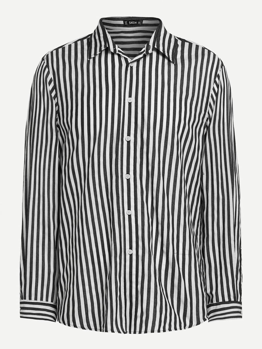 Men's Formal Shirts - Vertical Striped Print Shirt