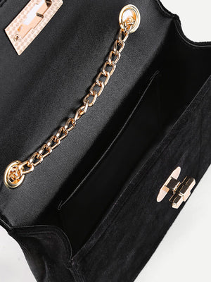 Purse For Women - Velvet Envelope Chain Bag