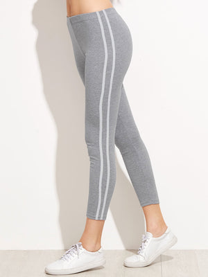 Cheap Leggings - Striped Side