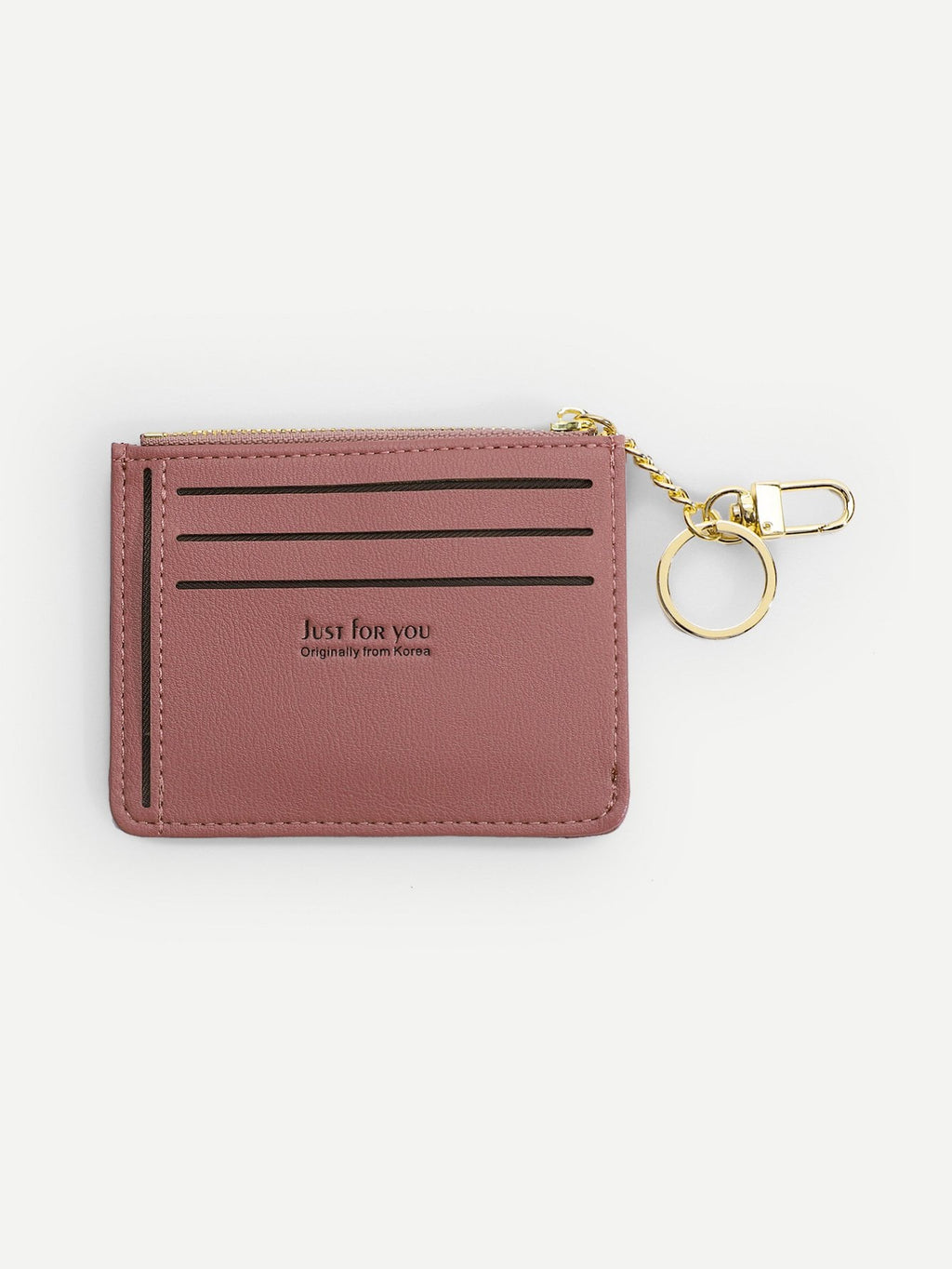 Women's Purse - Zipper Trim Card Wallet