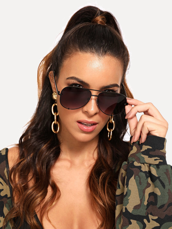 Sunglasses For Women - Top Bar Tinted Lens Sunglasses