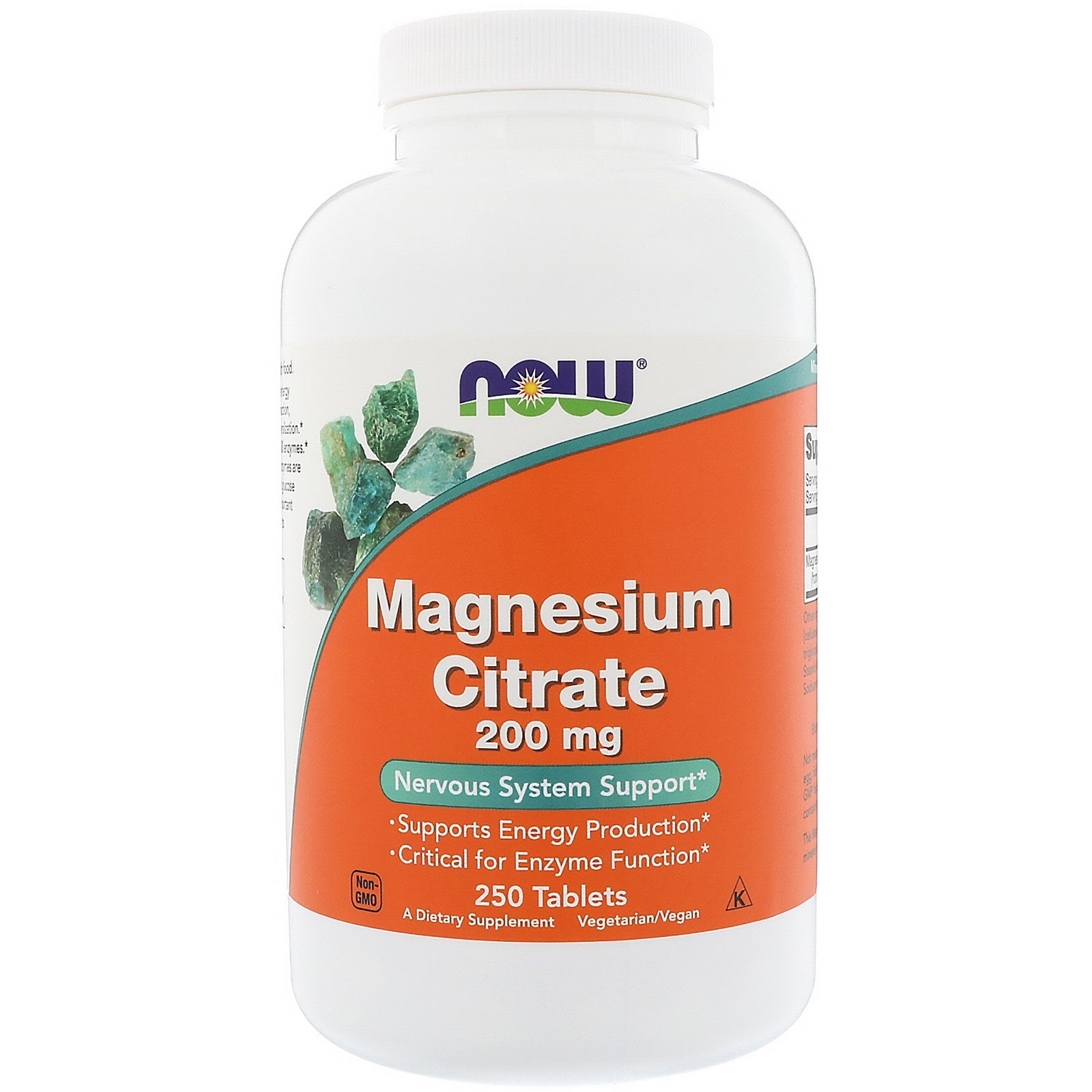 Now Foods, Magnesium Citrate, 200 mg, 250 Tablets