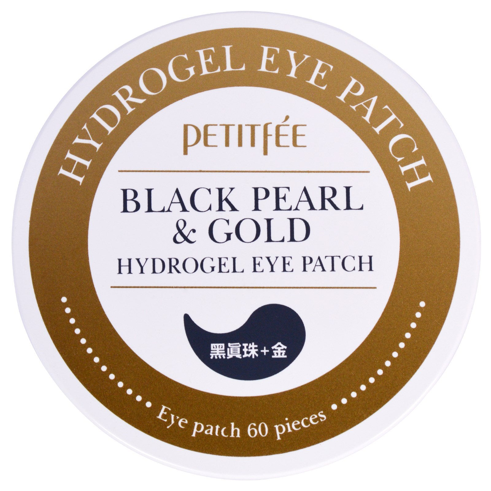 Petitfee, Black Pearl & Gold Hydrogel Eye Patch, 60 Patches