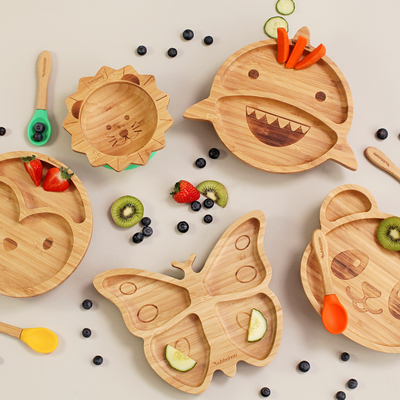 Bamboo Butterfly Suction Plate