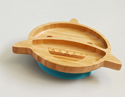 Bamboo Shark Plate and Spoon Set