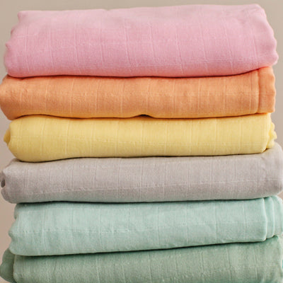 Bamboo Swaddling Blanket - Block Colours