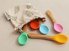 Bamboo Spoons with Soft Silicone Tips