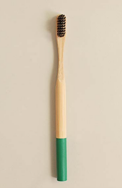 Daddaboo bamboo toothbrush with charcoal infused bristles