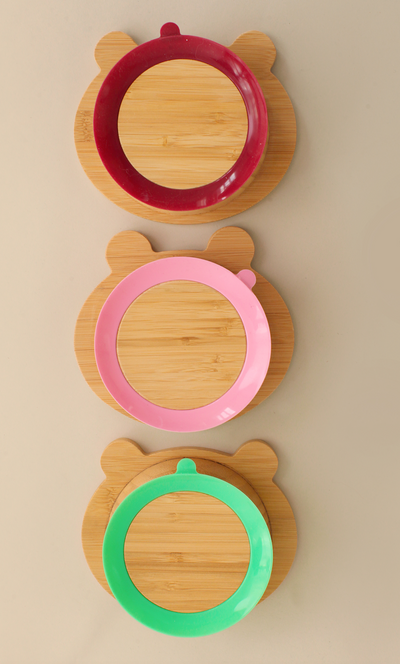 Bamboo Panda Plate and Spoon Set