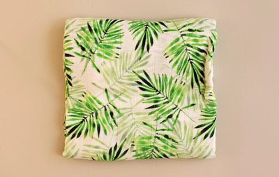 Bamboo Swaddling Blanket - Tropical Leaf