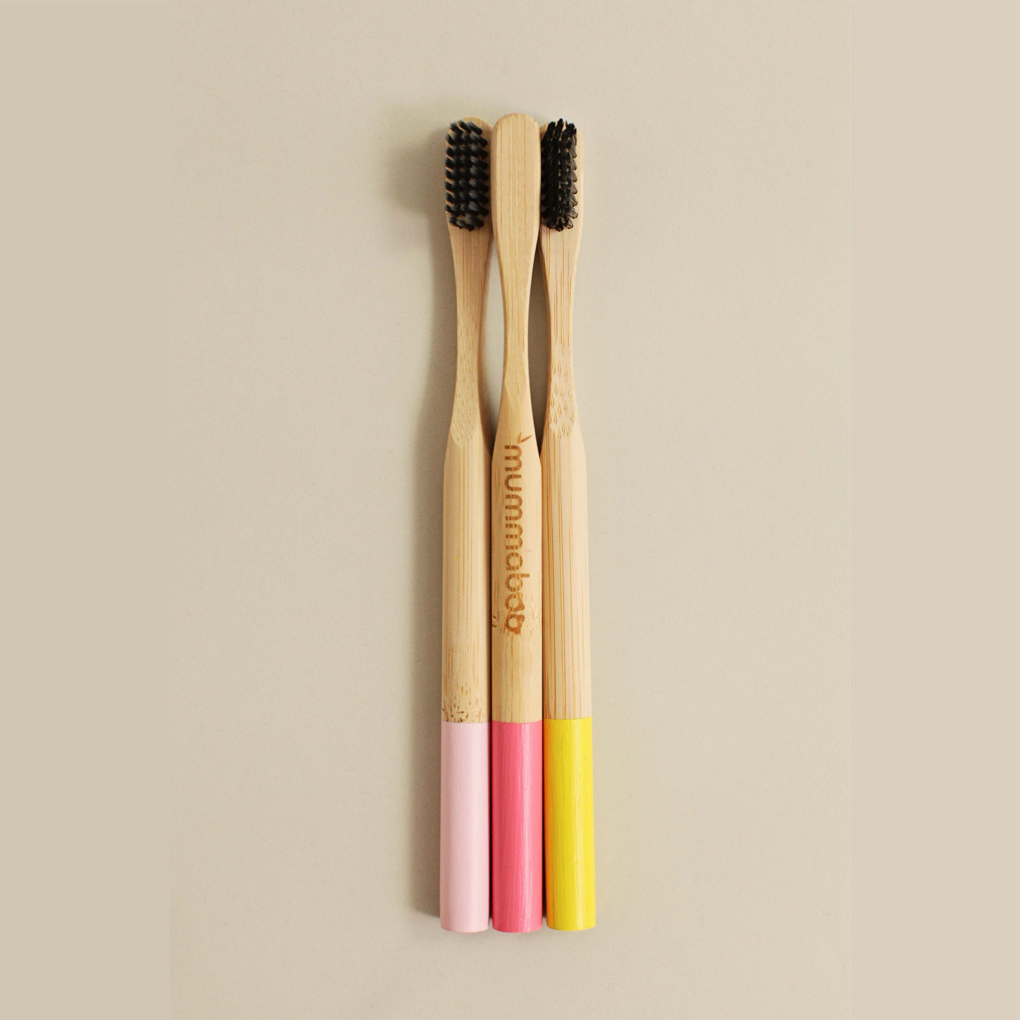 Mummaboo bamboo toothbrush with charcoal bristles
