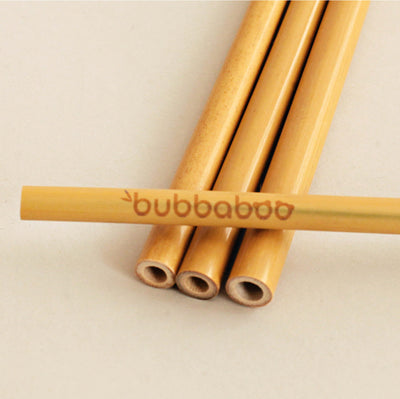 Reusable Bamboo Drinking Straws, Pack of 12