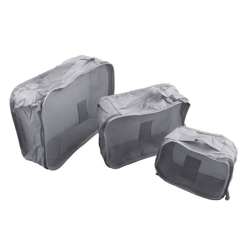 Set-of-6 Packing Cubes and Laundry Bags