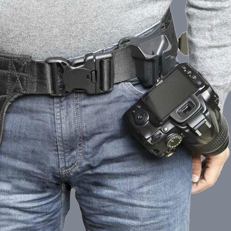 Camera Button Waist Belt Buckle