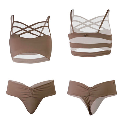 Bikini, Swimwear, Bodysuits- On The Lo Swimwear from California