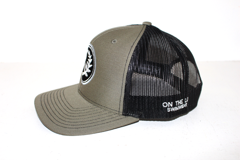 Unisex Hat Snapback Mesh On the Lo Cap -  Gray/Green and Black - On The Lo Swimwear