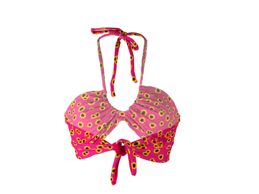 Sunflower Pink Polkadot Tear Drop Top - On The Lo Swimwear