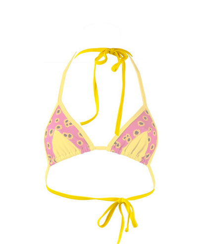 Sunflower & Yellow Triangle Top - On The Lo Swimwear