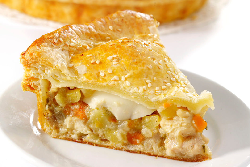 (PP05) FAMILY-SIZED CHICKEN MUSHROOM PIE (WITH EGG)