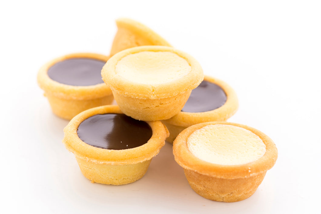 (SWC7) 18PC MINI CHOC. TARTS + 18PC MINI CHEESE TARTS
