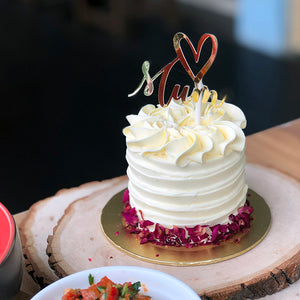 Pistachio Rose Mothers Day Cake