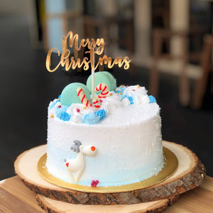 M31) White Christmas Cake (6 inch; for up to 8pax)