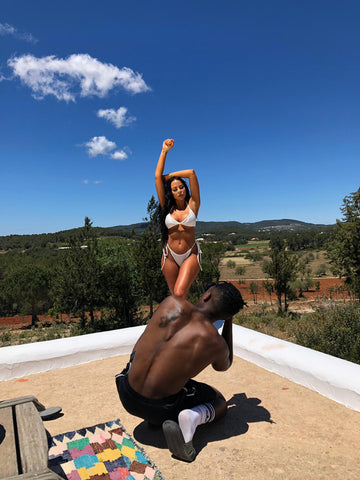 femme luxe ibiza edit shoot behind the scenes
