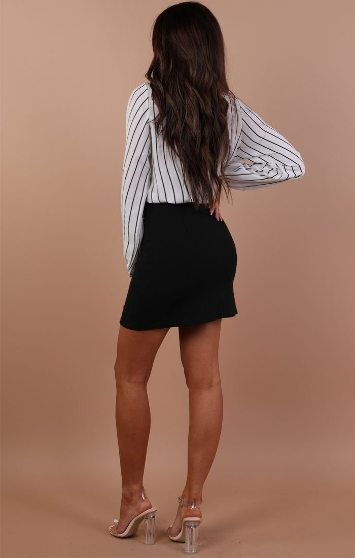 White And Black Striped Shirt Bodysuit – Nala