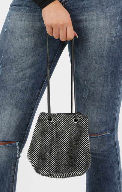 Diamante Pouch Clutch Bag - Eliza