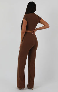 Brown-Green-Crop-Ribbed-Two-Piece-Set-Suzi