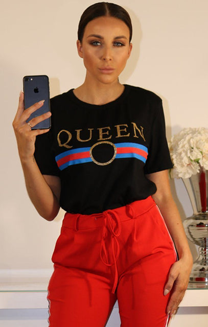 Black Queen Slogan T-shirt