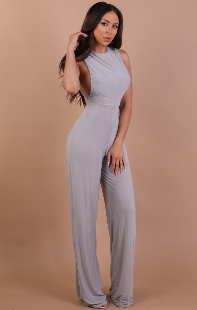 Grey Slinky Jumpsuit – Heather