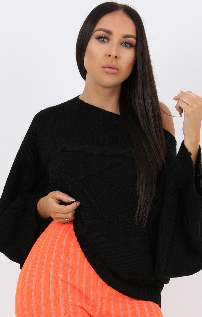 Neon Orange Ribbed Knit Leggins - Amara