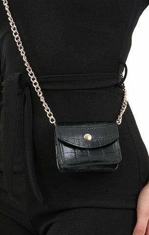 Black Micro Mini Bag