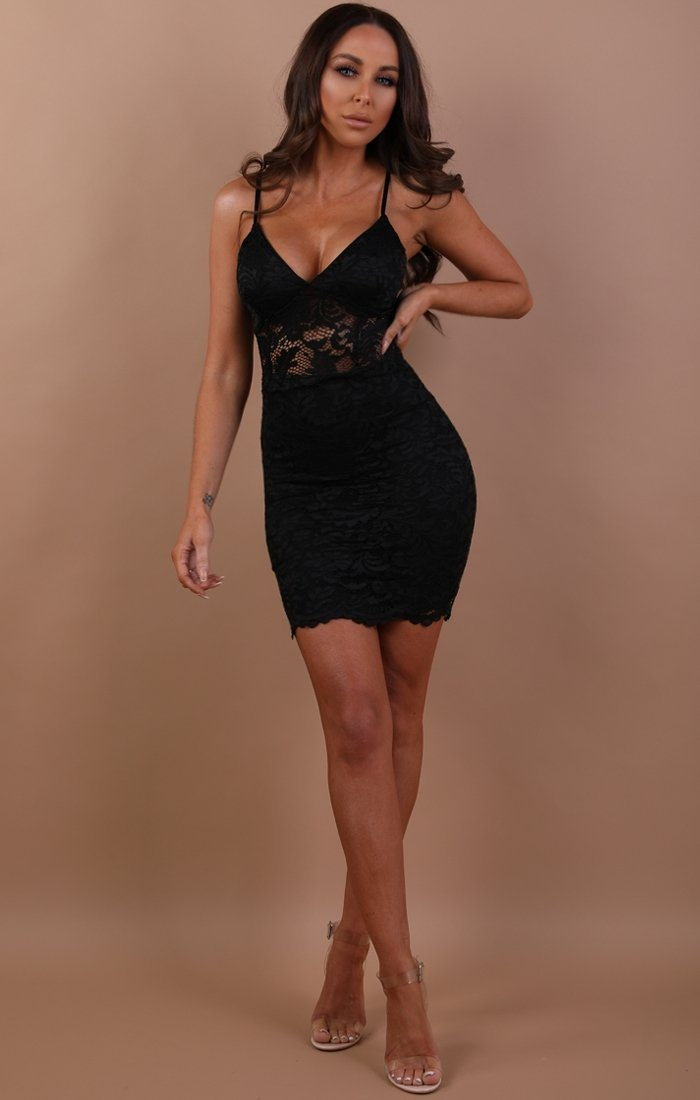 Black-lace-bodycon-mini-dress-ashlynn
