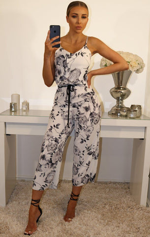Black Floral Jumpsuits