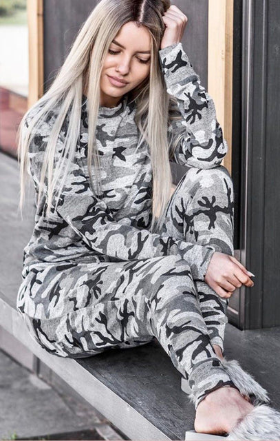 Camo Grey Loungewear Set - Saskia