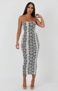 Animal-Snake-Print-Bandeau-Bodycon-Midi-Dress-Ariana