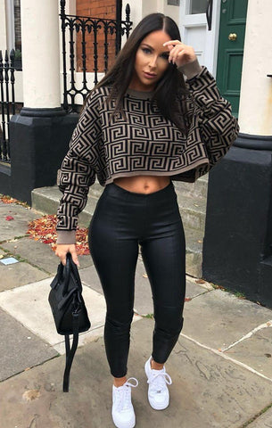 Black Cropped Jumpers