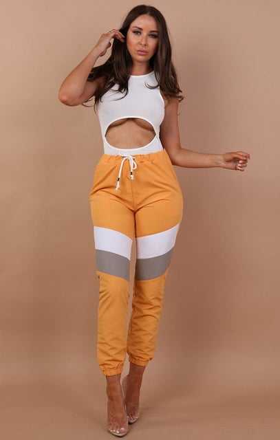 Mustard Contrast Festival Joggers - Alexis