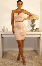 Nude Pu Two Piece Co-ord Set
