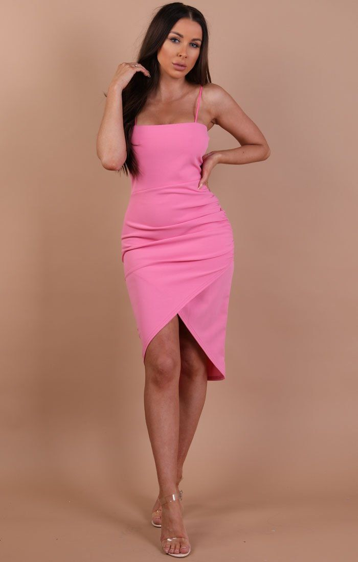 Rose Bodycon Wrap Midi Dress - Hayley