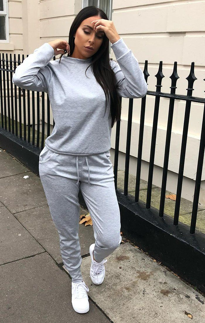 Grey Long Sleeve Loungewear Set - Jinell loungewear FemmeLuxe