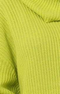 Neon-Lime-Knitted-Oversized-Polo-Neck-Jumper-Polly