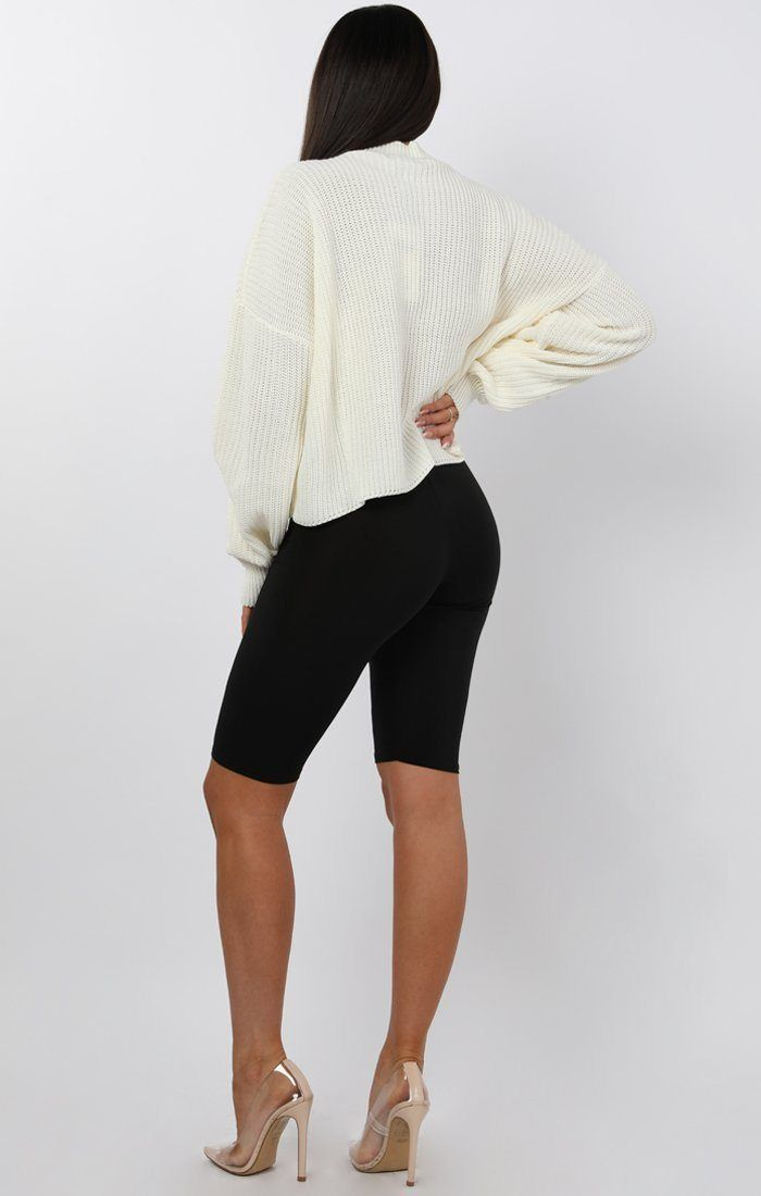 Cream Oversized Crop Jumper - Shaunie