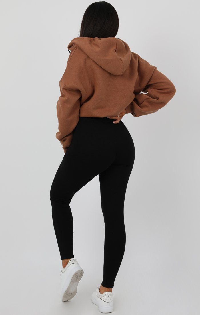 Brown V-Neck Crop Jumper - Cassidy