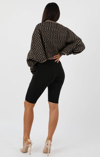 Brown-Black-Long-Sleeve-Crop-Jumper-Sienna