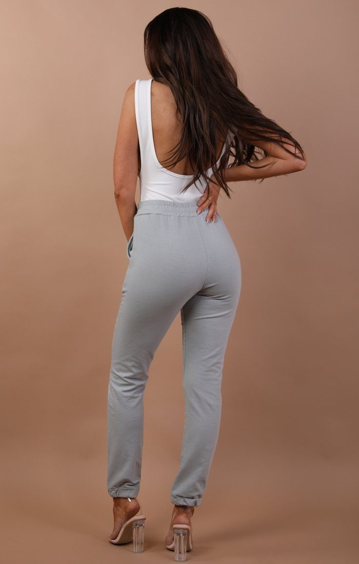 Grey Basic Sweatpants - Harlow
