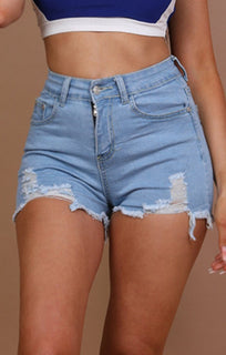Light-Denim-Skinny-Fit-Shorts