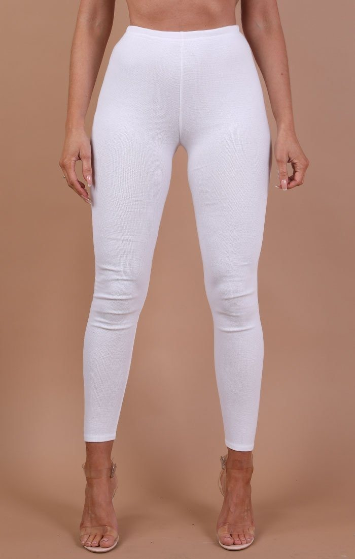 White Basic Leggings - Grace